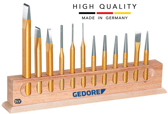 bo dot duc lo Gedore 107, Gedore chisel and punch set 107
