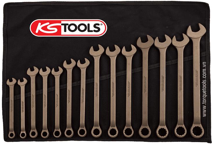 Bo co le chong chay no KS Tools 963.7306, KS Tools non sparking spanner set 963.7306