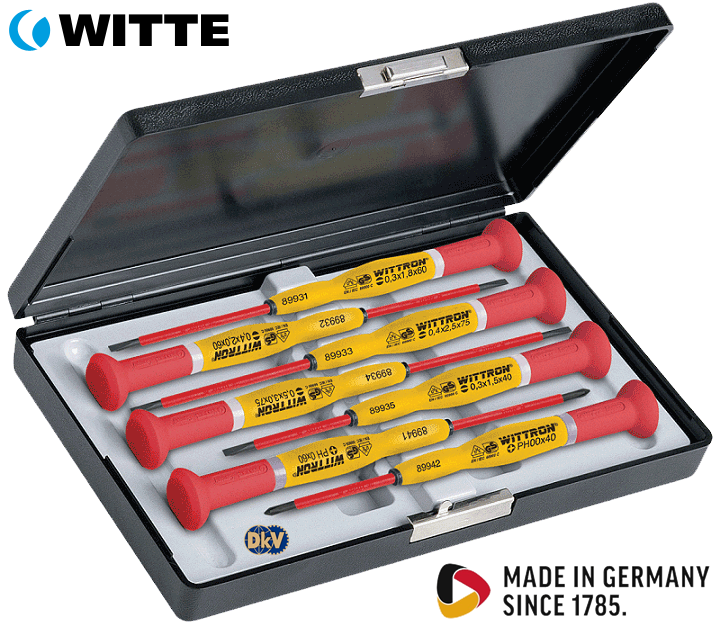 bo to vit cach dien Witte 89367, Witte VDE screwdriver set 89367